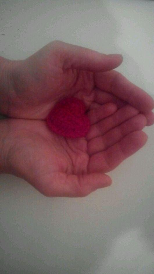 Брелоки ручной работы. Ярмарка Мастеров - ручная работа. Купить 2 сердца-брелка за 250 руб.. Handmade. Сердца