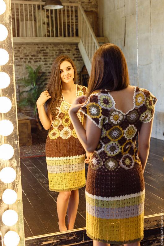 Платья ручной работы. Ярмарка Мастеров - ручная работа. Купить Платье Марта. Handmade. Комбинированный, зеленый, летняя мода 2017