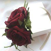 Украшения handmade. Livemaster - original item Rim with purple roses. FABRIC FLOWERS.. Handmade.