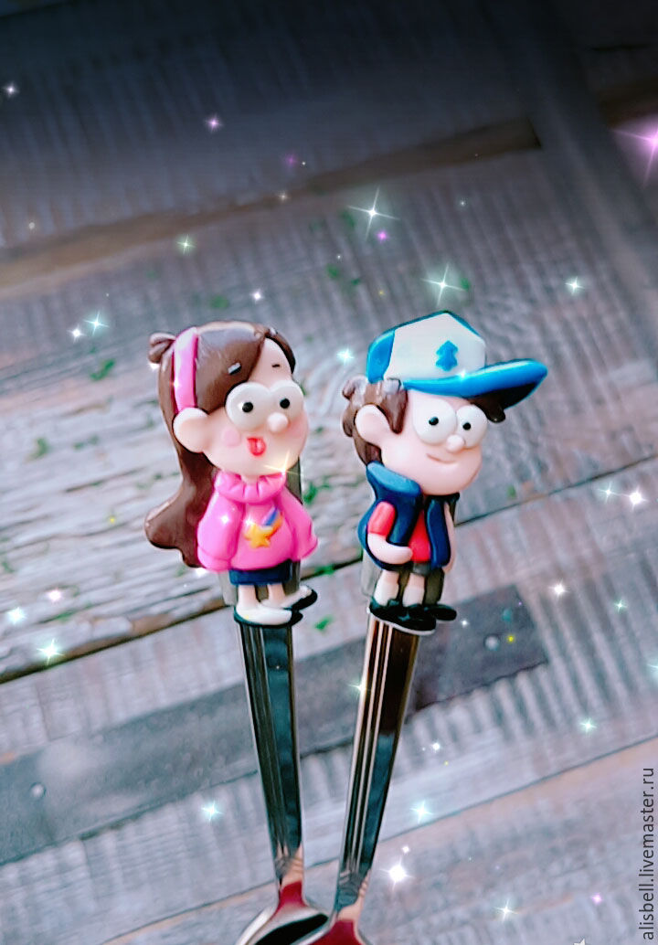 A set of teaspoons Gravity falls (Mabel and Dipper), Children\'s tableware, Barnaul,  Фото №1