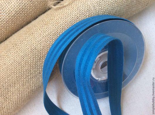 Шитье ручной работы. Ярмарка Мастеров - ручная работа. Купить Ременная лента синяя. Handmade. Синий, для сумок, лента ременная