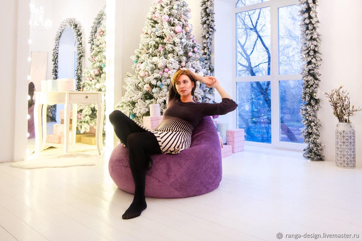 Кресло-груша из велюра Violet Bag S, Кресла, Москва,  Фото №1