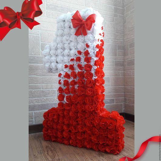 Цветы большие из пластиковых бутылок