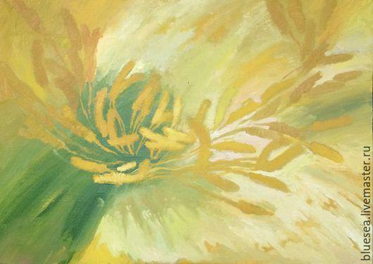 Абстракция ручной работы. Ярмарка Мастеров - ручная работа. Купить солнце в лепестках. Handmade. Желтый, холст масло