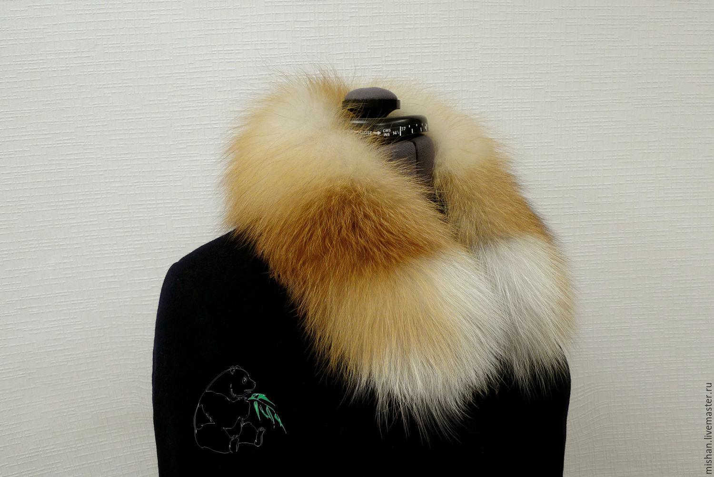 Fur detachable collar boa fur red Fox, Collars, Ekaterinburg,  Фото №1