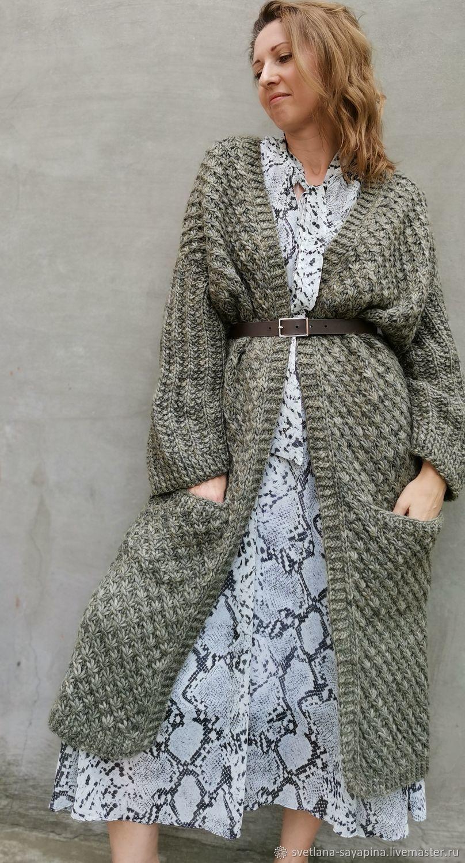 Long warm cardigan for women, Cardigans, Krymsk,  Фото №1