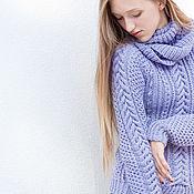 Одежда handmade. Livemaster - original item Hand knitted sweater with the scarf. Handmade.