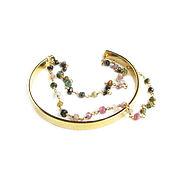 Украшения handmade. Livemaster - original item Tourmaline bracelet, Natural Stones chain bracelet. Handmade.