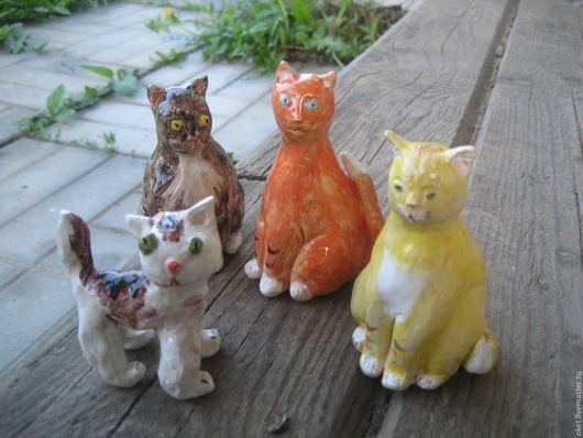"""Статуэтки ручной работы. Ярмарка Мастеров - ручная работа. Купить Статуэтки """"Коты"""" керамические. Handmade. Кот, статуэтки из керамики, керамика"""