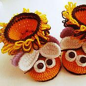 Работы для детей, ручной работы. Ярмарка Мастеров - ручная работа Пинетки вязаные Веселые пчелки. Handmade.