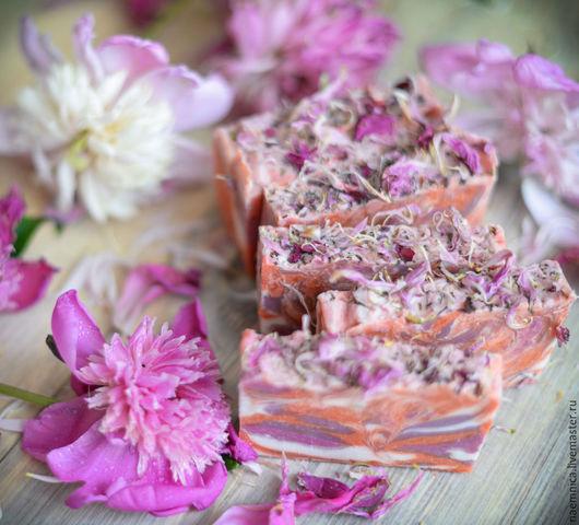 """Мыло ручной работы. Ярмарка Мастеров - ручная работа. Купить Мыло с нуля """"Дикий пион"""". Handmade. Розовый, красивое мыло"""
