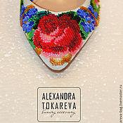 Обувь ручной работы handmade. Livemaster - original item Exclusive shoes handmade embroidered beads Elegant flowers. Handmade.