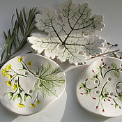 """Для дома и интерьера ручной работы. Ярмарка Мастеров - ручная работа Мыльница """"Весенняя"""", керамика. Handmade."""