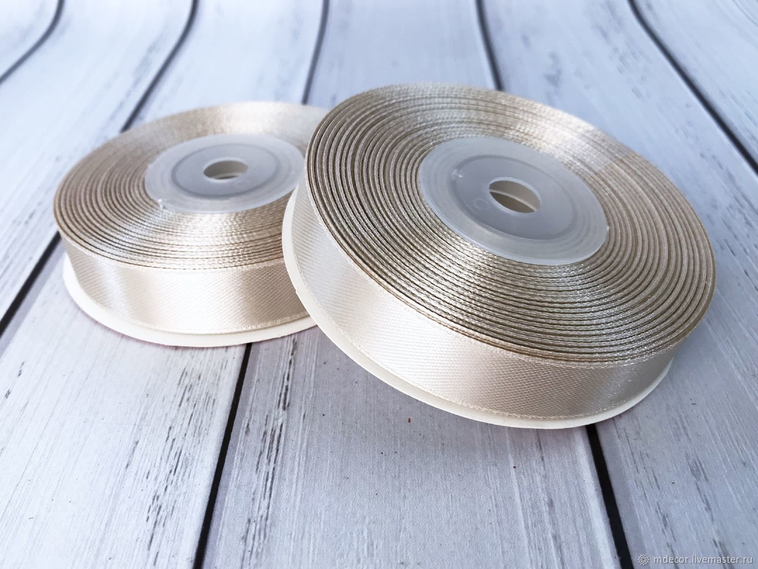 Satin sand tape 16 mm, Ribbons, Moscow,  Фото №1