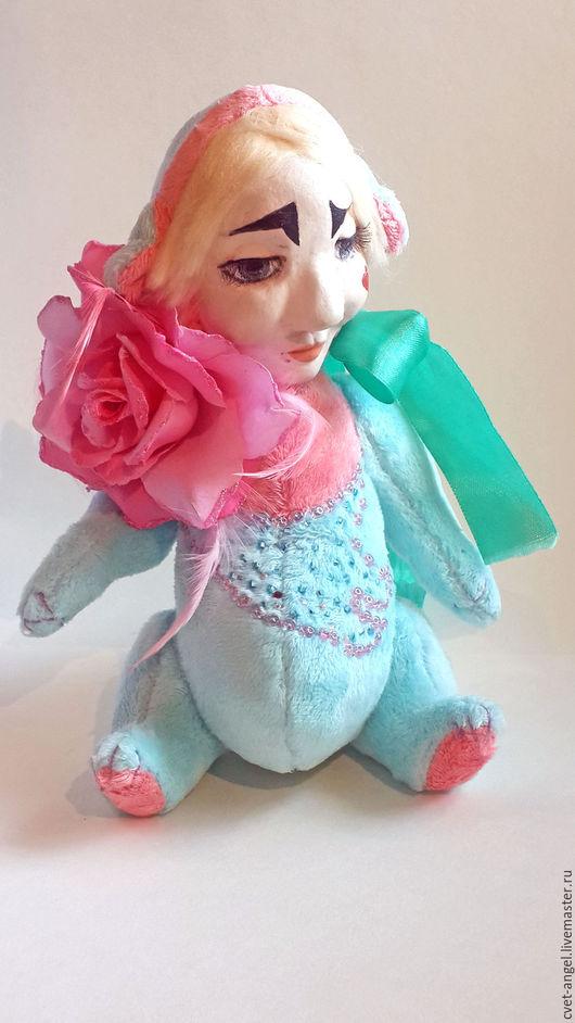 """Мишки Тедди ручной работы. Ярмарка Мастеров - ручная работа. Купить Тедди-Долл """" Цветок"""". Handmade. Бирюзовый, кукла"""