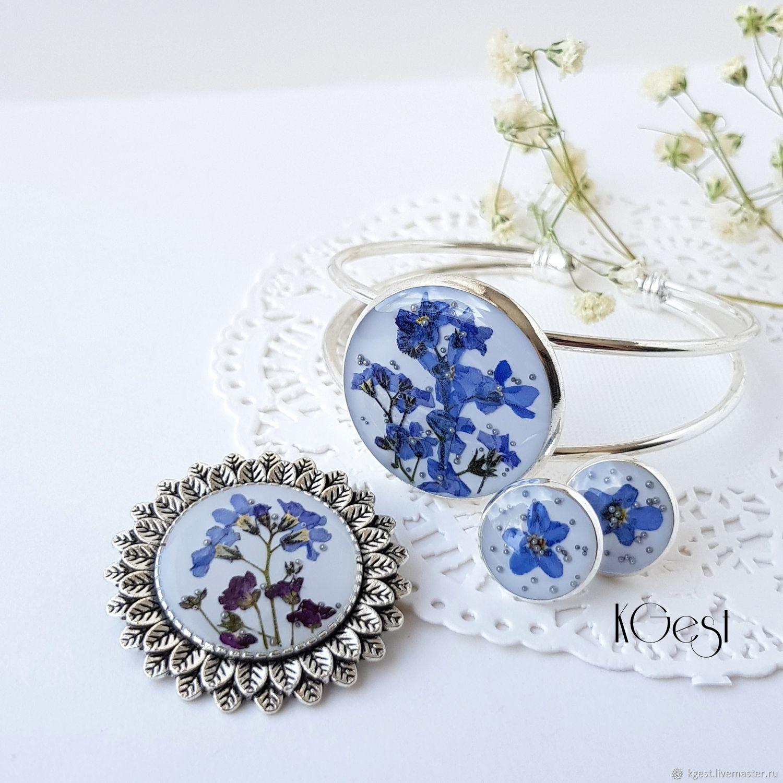 Set 'Forget-me', Jewelry Sets, Oktyabrsky,  Фото №1