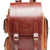 Сумки и аксессуары handmade. Livemaster - original item Men`s leather backpack is