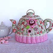 Kettle Warmers handmade. Livemaster - original item Kettle warmer Summer day. Pink, kitchen decoration. Handmade.