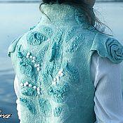 Одежда handmade. Livemaster - original item LILIES felted vest. Handmade.