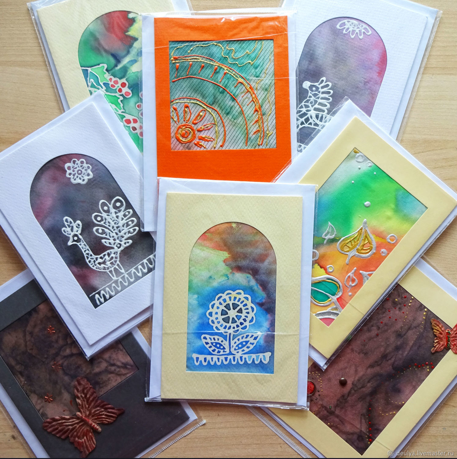 Batik Greeting Cards Shop Online On Livemaster With Shipping