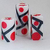 Свечи ручной работы. Ярмарка Мастеров - ручная работа Свечи: Комплект Абстрактная геометрия 1. Handmade.