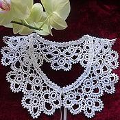 Аксессуары handmade. Livemaster - original item Lace lace collar crochet №27 cotton. Handmade.