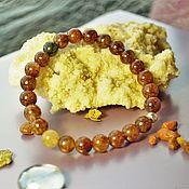 Украшения handmade. Livemaster - original item Bracelet from volosatika in/with (quartz with gold rutile and actinolite). Handmade.
