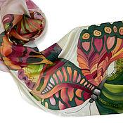 """Аксессуары ручной работы. Ярмарка Мастеров - ручная работа Батик  Шарф  """"На крыльях ветра"""". Handmade."""