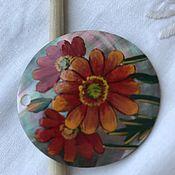 Материалы для творчества ручной работы. Ярмарка Мастеров - ручная работа Кулон цветы на перламутре 46 мм. Handmade.