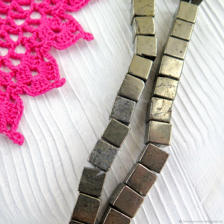 Пирит бусины кубики. Каменья Store - бусины из натуральных камней и керамики