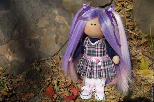 Коллекционные куклы ручной работы. Ярмарка Мастеров - ручная работа. Купить Интерьерная текстильная кукла. Handmade. Голубой, авторская кукла