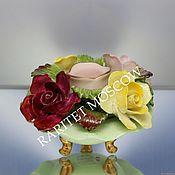 Винтаж ручной работы. Ярмарка Мастеров - ручная работа Ваза с цветами подсвечник роза фарфор Англия 7. Handmade.