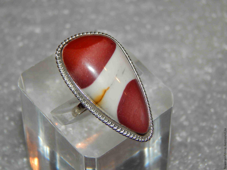 Мукаит — жизнеутверждающий камень для тех, кто всегда на подъеме, Кольца, Асбест, Фото №1