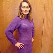 Одежда ручной работы. Ярмарка Мастеров - ручная работа вязаное женское платье. Handmade.