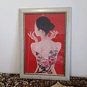 """Картины ручной работы. Ярмарка Мастеров - ручная работа Картина """"Девушка-японка"""". Handmade."""