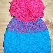 Работы для детей, ручной работы. Ярмарка Мастеров - ручная работа шапка с большим помпоном. Handmade.