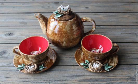 """Сервизы, чайные пары ручной работы. Ярмарка Мастеров - ручная работа. Купить Сервиз """"Семейное гнездышко"""" №12. Handmade. гнездо"""