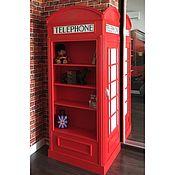 """Для дома и интерьера ручной работы. Ярмарка Мастеров - ручная работа Шкаф для книг и сувениров """"Лондонский телефон"""". Handmade."""