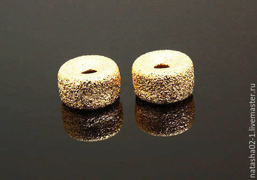 """Для украшений ручной работы. Ярмарка Мастеров - ручная работа. Купить Бусины """"САХАРНЫЕ"""" 8 мм Gold plated Южная Корея. Handmade."""