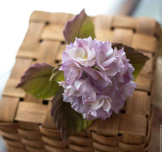 Цветы ручной работы. Ярмарка Мастеров - ручная работа. Купить Цветы из шелка. Гортензия. Handmade. Бледно-сиреневый, цветы из шелка