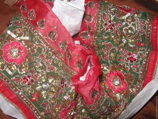Аппликации, вставки, отделка ручной работы. Ярмарка Мастеров - ручная работа. Купить ШОК-ЦЕНАВинтажная индийская тесьма 700р за 90см. Handmade.