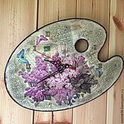 Для дома и интерьера ручной работы. Ярмарка Мастеров - ручная работа Часы Палитра. Handmade.