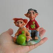 Куклы и игрушки ручной работы. Ярмарка Мастеров - ручная работа Гейтси и Джобси компьютерные домовые.. Handmade.