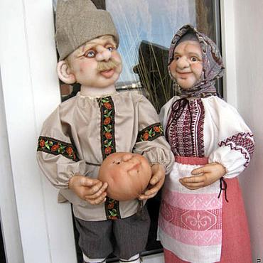 Куклы и игрушки ручной работы. Ярмарка Мастеров - ручная работа Дед и Баба. Handmade.