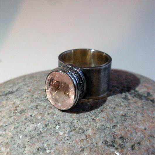 """Кольца ручной работы. Ярмарка Мастеров - ручная работа. Купить Кольцо """"Quattrocento"""". Морганит, серебро.. Handmade. Бледно-розовый, морганит"""