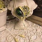 Украшения handmade. Livemaster - original item The Bolo tie in Green BEETLE( Leather). Handmade.