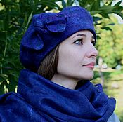 Аксессуары handmade. Livemaster - original item Kit felted beret and tippet