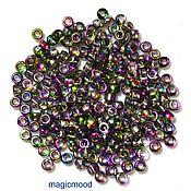 Материалы для творчества handmade. Livemaster - original item 10gr Matubo 7/0 3,5 mm 95000CR violet green Czech beads. Handmade.