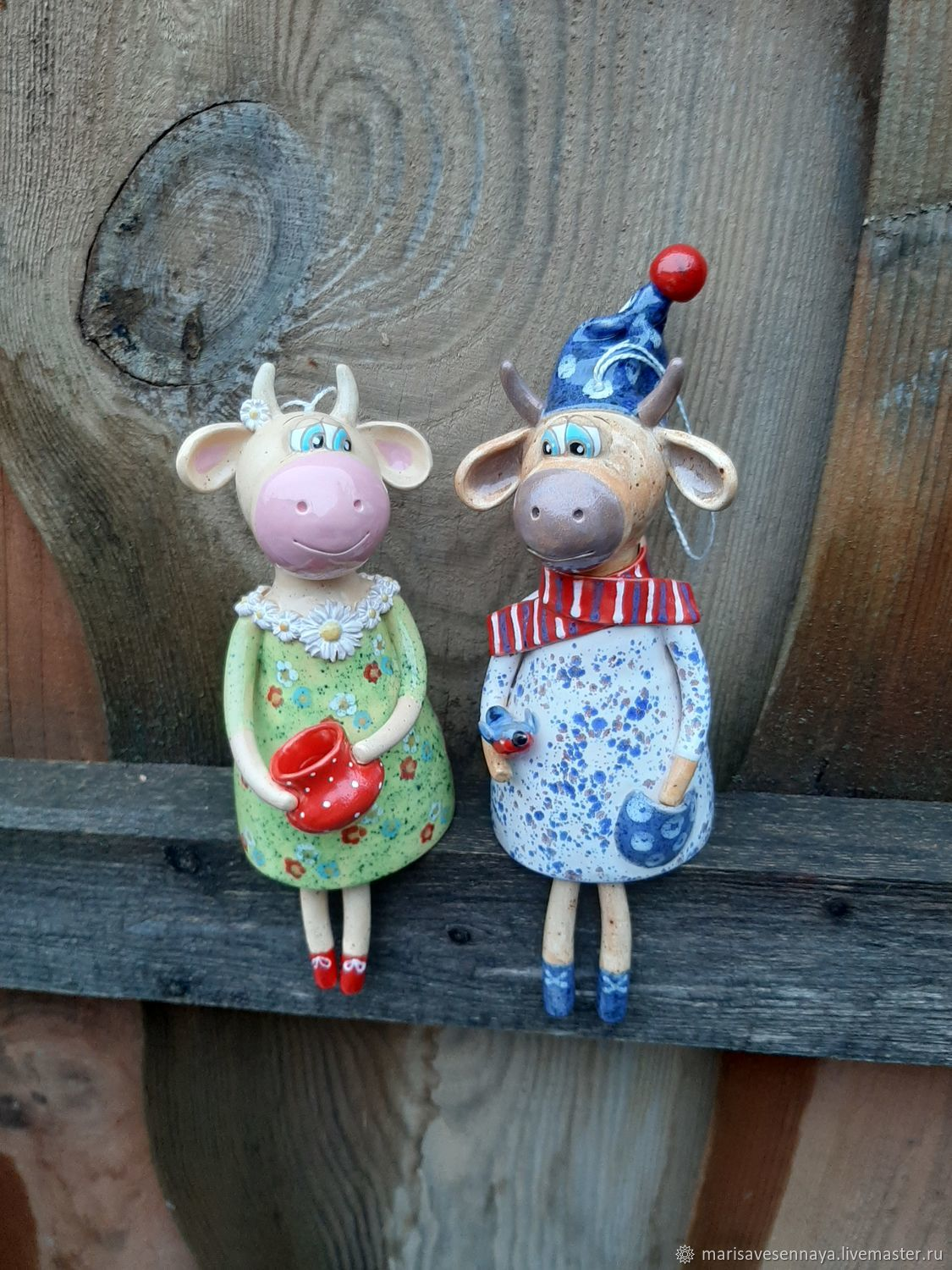 A motley couple. Bull and Cow, Christmas gifts, Smolensk,  Фото №1