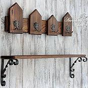 Для дома и интерьера ручной работы. Ярмарка Мастеров - ручная работа Прихожая ECO Wood (полка+вешалка/ключница). Handmade.